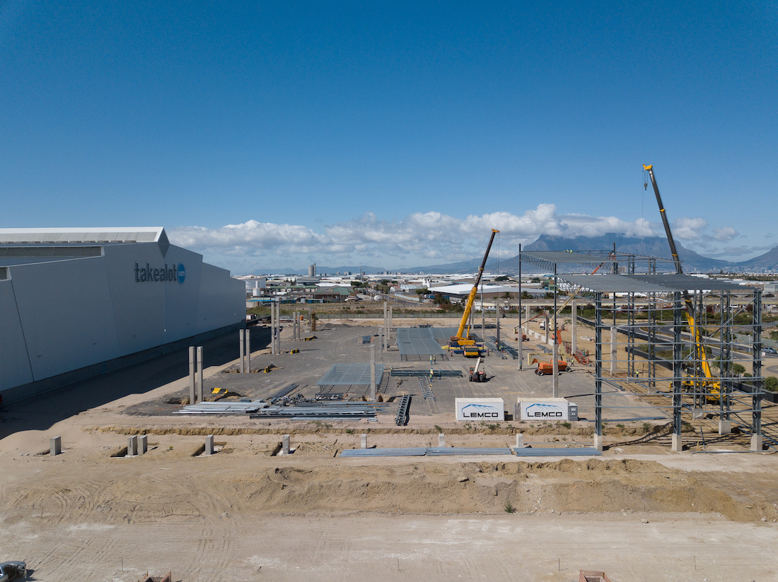 Takealot Warehouse Facility Lemco Steel Structures